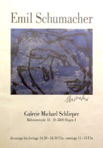 Ausstellungsplakat Galerie Michael Schlieper