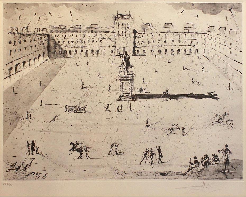 La grande Place des Vosges, du temps de Louis XIII