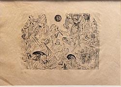 """Auferstehung (Blatt 12 aus """"Gesichter"""")"""