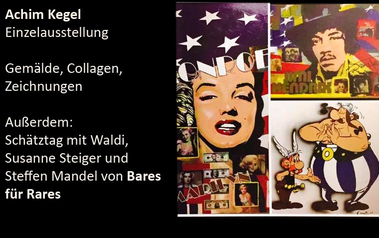Ausstellung Achim Kegel 28./29. Januar 2017 – Gemälde, Collagen, Zeichnungen