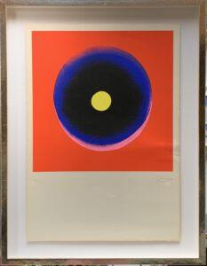 Otto Piene, Tele rot-rosa-ultra-schwarz-gelb