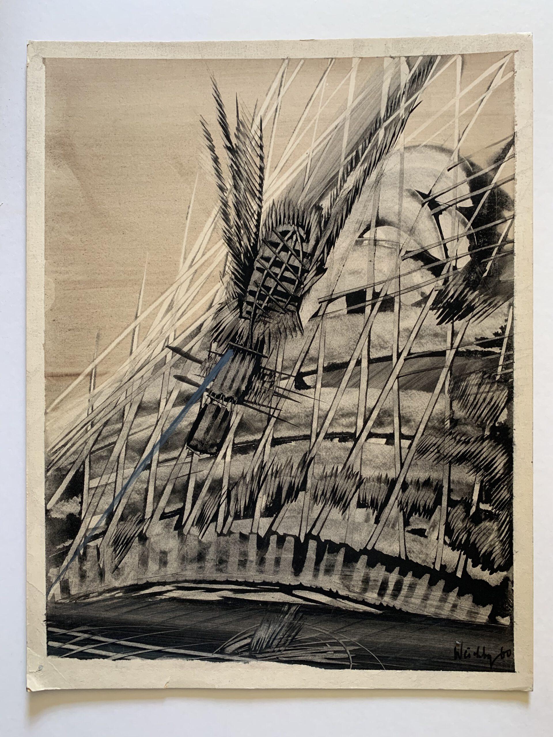 Philipp Weichberger, tachistische Komposition, lot 3