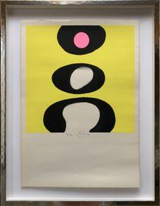 Otto Piene, Tele schwarz-weiß-rosa-gelb
